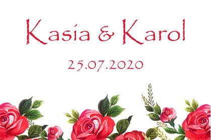 foto budka wesele grafika na wydruku, czerwone róże
