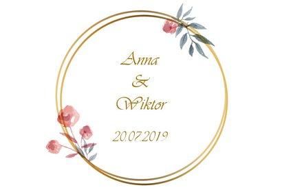 fotobudka na weselu Ani i Wiktora grafika szablony wydruku