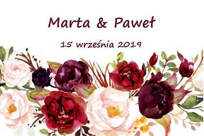 fotobudka, wesele wydruk w czerwone kwiaty