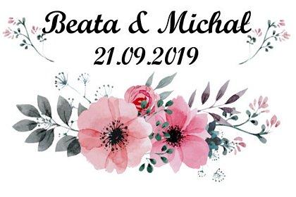 fotobudka na weselu, prosty szablon wydruku w kwiaty, maki